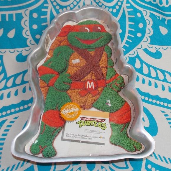 Amazing Vintage Kitchen Ninja Turtles Wilton Cake Pan 80S Birthday Personalised Birthday Cards Petedlily Jamesorg